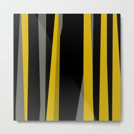yellow gray and black Metal Print
