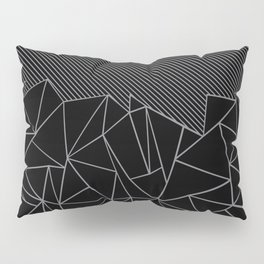 Ab Lines 45 Grey and Black Pillow Sham
