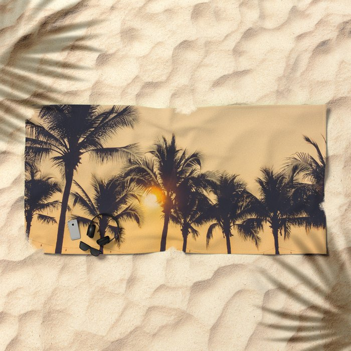 Good Vibes #society6 #palm trees Beach Towel