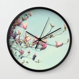 spring magnolia Wall Clock