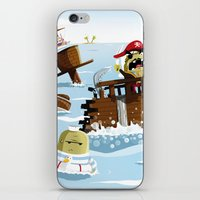 pirates iPhone & iPod Skins featuring Pirates by modernagestudio