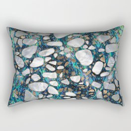 Terrazzo - Mosaic Abalone Pearl and Gold #7 Rectangular Pillow