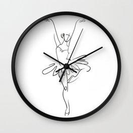 Minimal Ballerina Wall Clock