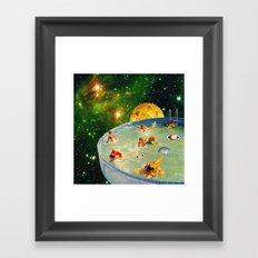 Screaming Children in Pool Framed Art Print