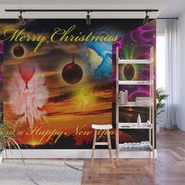 Merry Christmas and a Happy New Year Wall Mural
