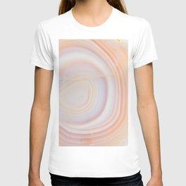 Cream & Pale Yellow Striped Agate Slice T-shirt