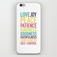 Fruits of the Spirit iPhone & iPod Skin