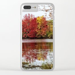 Fall Contemplation Clear iPhone Case