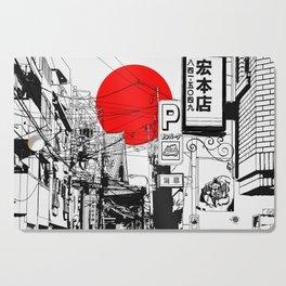 Tokyo street sunrise Cutting Board