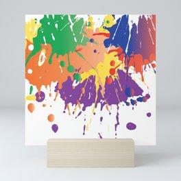 Colourful Paint splash Mini Art Print