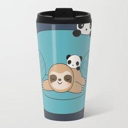 Kawaii Panda and Sloth Travel Mug