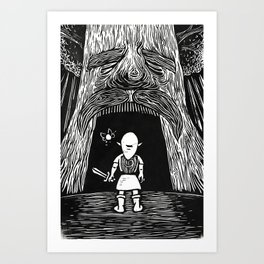 Enter the Deku Tree Art Print