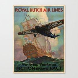Vintage poster - Royal Dutch Airlines Canvas Print