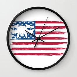 Drone America Wall Clock