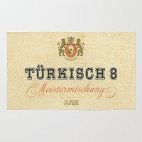 cigarette Area & Throw Rugs featuring Turkisch 8 - Vintage Cigarette by Fernando Vieira