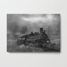 Where Old Engines Go Metal Print