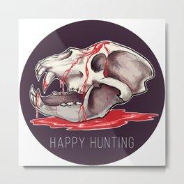 Happy Hunting Metal Print