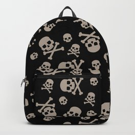 Skull and crossbones seamless pattern for holiday halloween Backpack