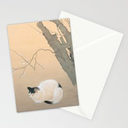 Cat and Plum Blossoms Japanese Painting Stationery Cards