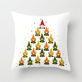 Merry Gnoming Christmas Throw Pillow