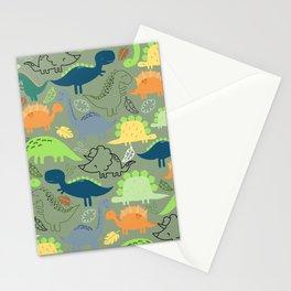 Dinosaurs jungle pattern Stationery Cards