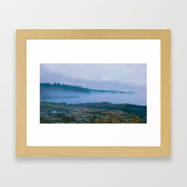 North Shore Fog Framed Art Print