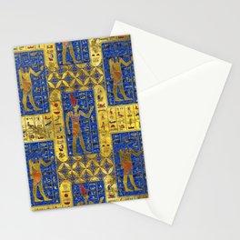 Egyptian  Gold  symbols on Lapis Lazuli Stationery Cards