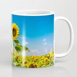 Three's Company - Trio of Sunflowers in Kansas Coffee Mug