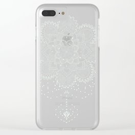 Thicc Mandala Clear iPhone Case
