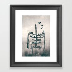 Stickman Framed Art Print