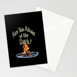 Question Is Are You Afraid Of The Dark Stationery Cards