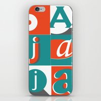 typo iPhone & iPod Skins featuring Bajaja Typo by Bajaja