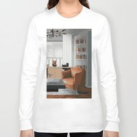 read Long Sleeve T-shirts featuring Read by JuniqueStudio