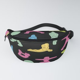 Rainbow Yoga Pattern Fanny Pack