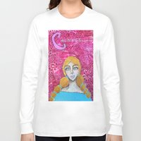 courage Long Sleeve T-shirts featuring Courage by Leanne Schuetz Mixed Media Artist