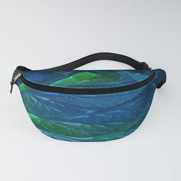 Sea Glass 3D Flame Fractal Fanny Pack