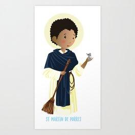 St Martin of Porres Art Print