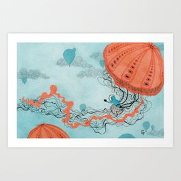 Dirigible Jellies Art Print