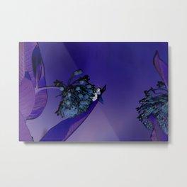 Blooming at Night (violet) Metal Print