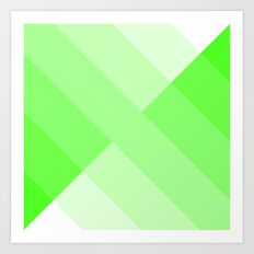 Green gradient Art Print