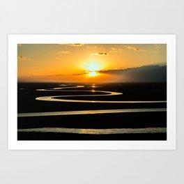 The Congo River Basin at Sunset Photographic Art Print