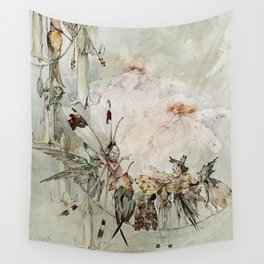 """""""Exotics at Play"""" by Duncan Carse Wall Tapestry"""