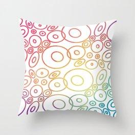 Beautiful Colored Circles Throw Pillow