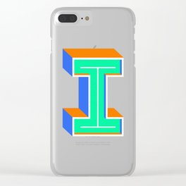 Letter I Clear iPhone Case