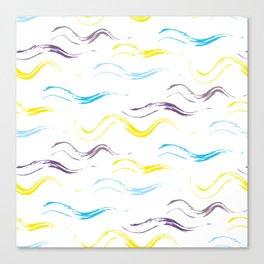 Blue & Yellow Patterns Canvas Print
