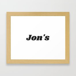 Jon's 4600X3000 Framed Art Print