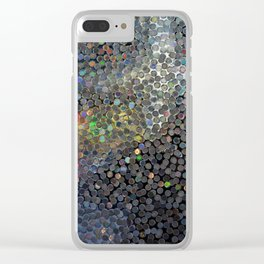 Silver Dot Reflection - Abstract Photo of Illuminating Circular Colorful Reflections Clear iPhone Case