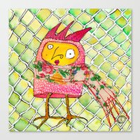 chicken Canvas Prints featuring Chicken by Dawn Patel Art
