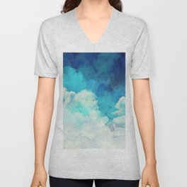 Absract Watercolor Clouds Unisex V-Neck