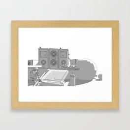 Louder than normal. Framed Art Print